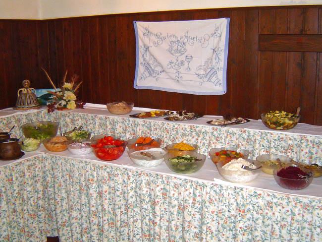 Salatbuffet am Sonnenhof am Weissensee - Kärnten mit Urlaub am Bauernhof