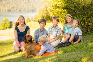 Kinder der Familie Domenig vom Sonnenhof - Raderhof am Weissensee